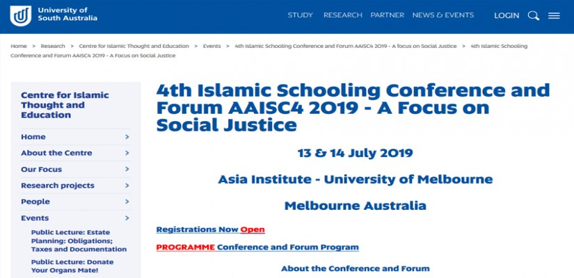 IFSC Scholar Committee to Attend Islamic Education Conference in Australia