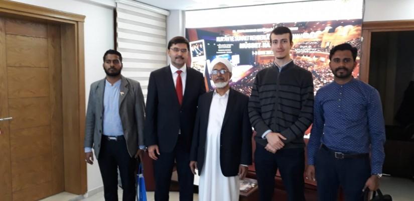نائب رئيس جامعة دار الهدى الإسلامية في الهند في مؤسستنا